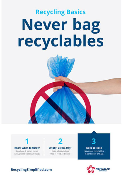 Never Bag Recyclables
