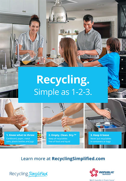 Recycling: Simple as 1-2-3